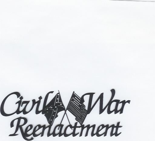 Civil War Reenactment Black Title