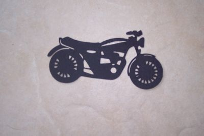 DIecut Motorcycle Black