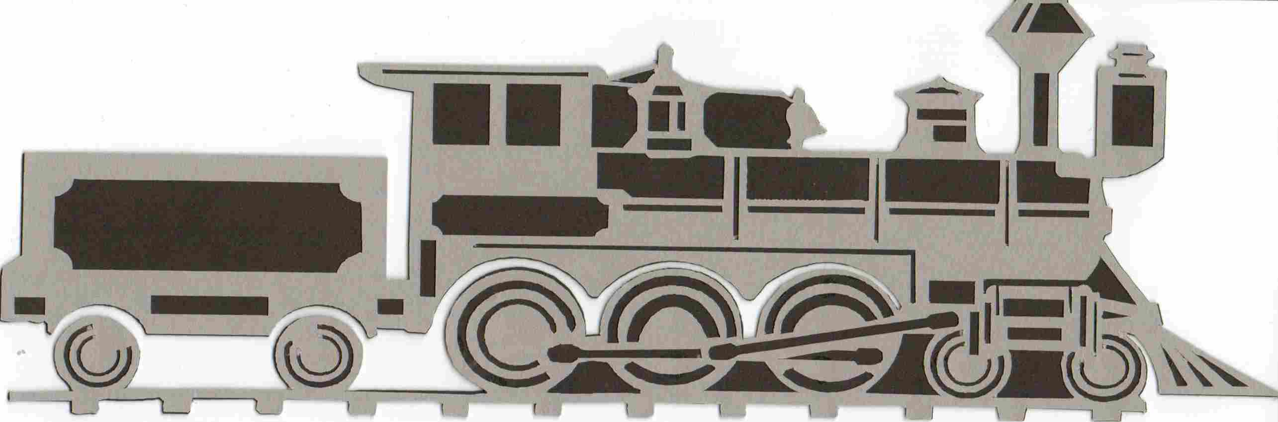 Die-cut Train Black/Gray
