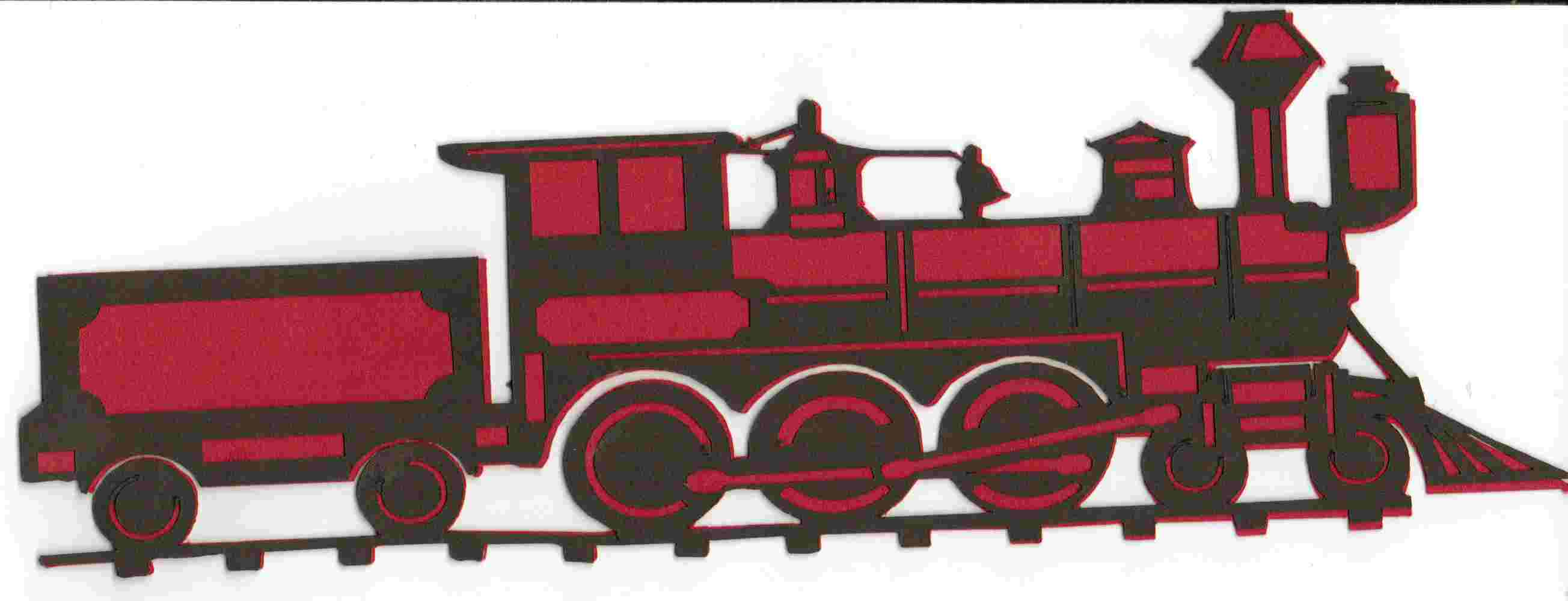 Train die-cut red