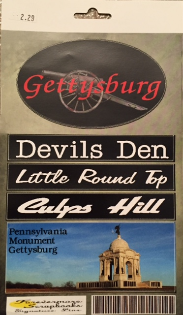 Stickers for Gettysburg